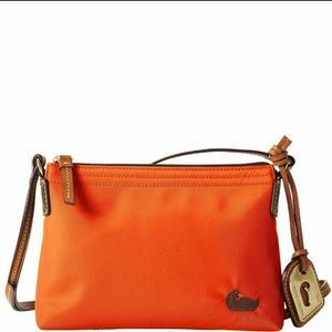 Dooney & Bourke Orange Nylon Pouchette Crossbody